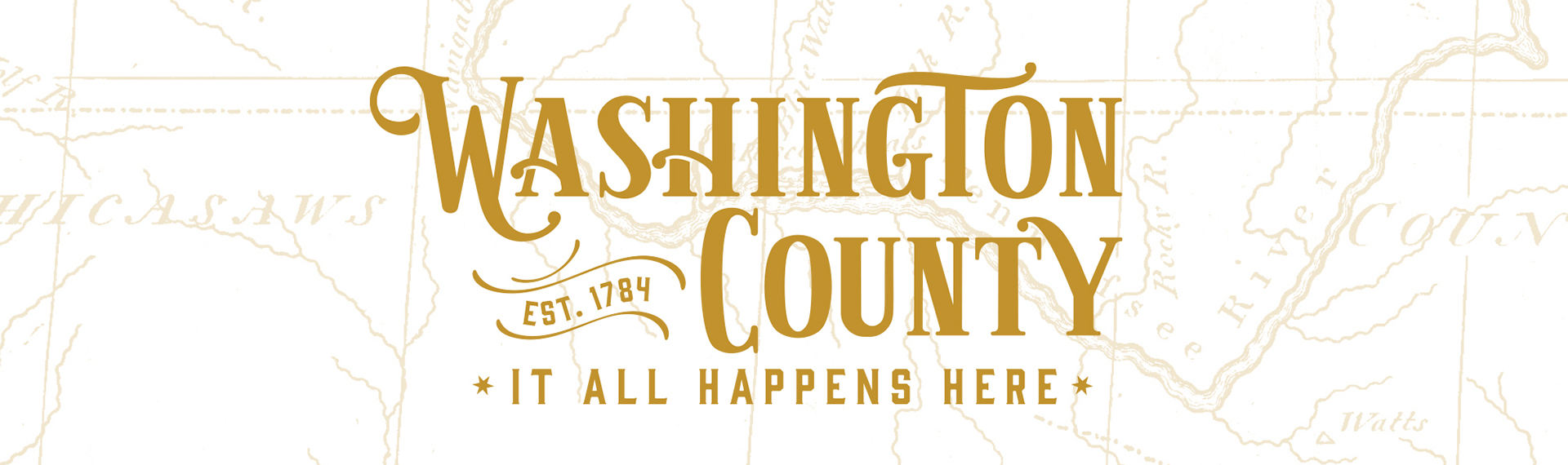 A graphic with the new branding logo for Washington County