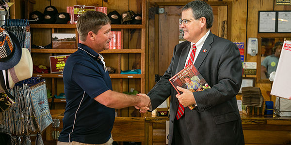UGA Presiden Jere Morehead and other UGA officials visits Carrol