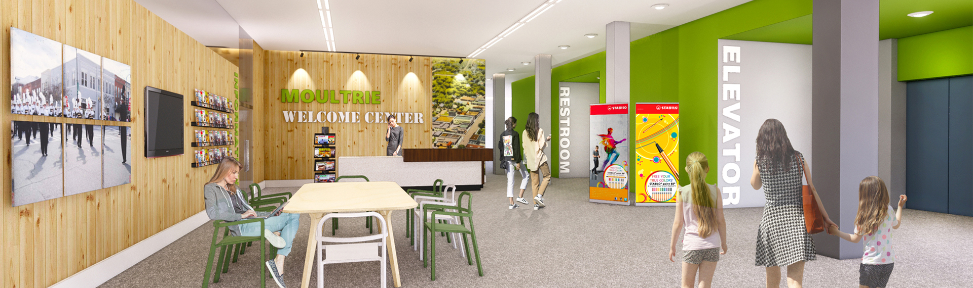 Artist's rendering of new Moultrie welcome center