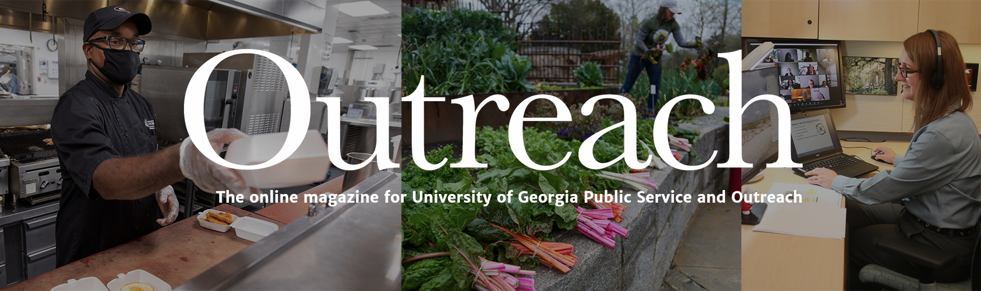 Graphic for the Public Service and Outreach online magazine