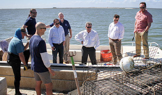 U.S. Rep. Buddy Carter visits the UGA Oyster Hatchery