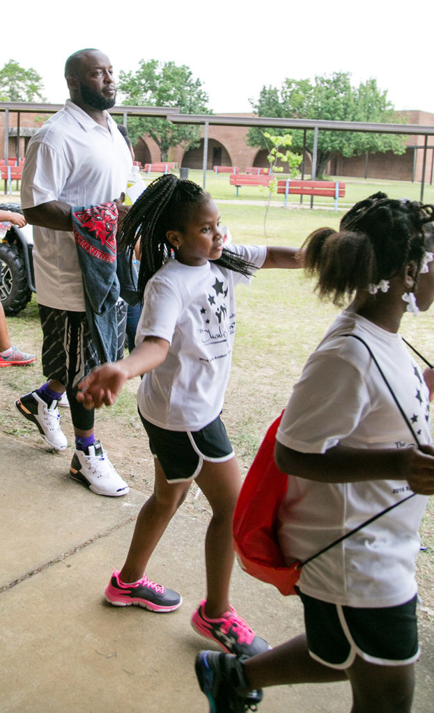 Charles Johnson Foundation event in Archway Community of Hawkins