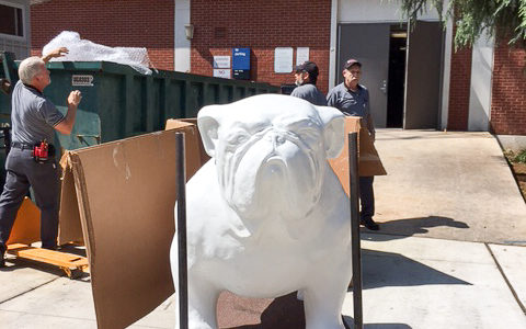 Bulldog to be painted by UGA student for in front of Center for
