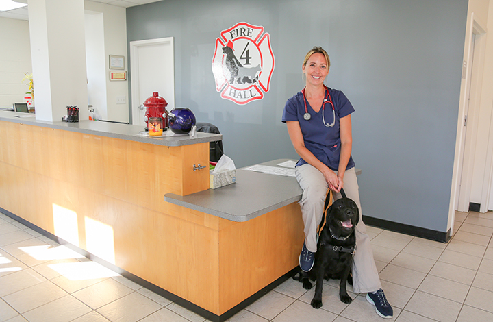 Dogged determination results in veterinary practice for UGA graduate