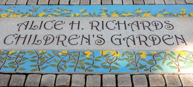 The Alice H. Richards Children's Garden grand opening.