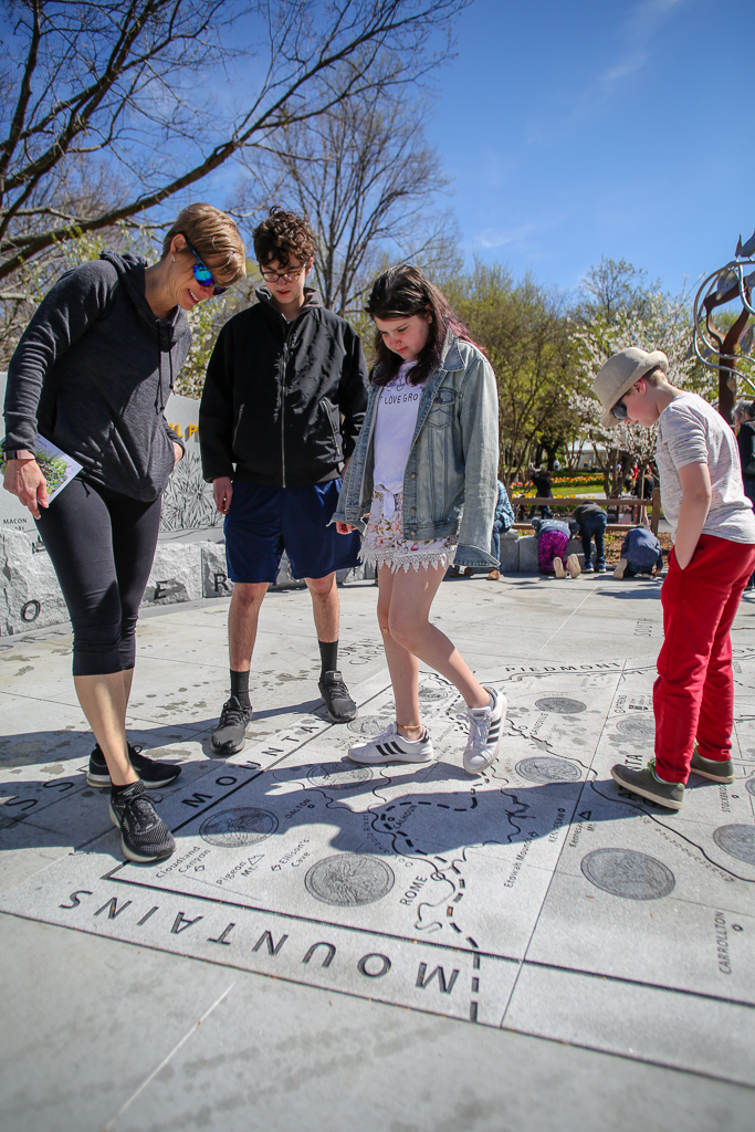 Can you find where you live on the Georgia Map? It's made out of Elberton granite.