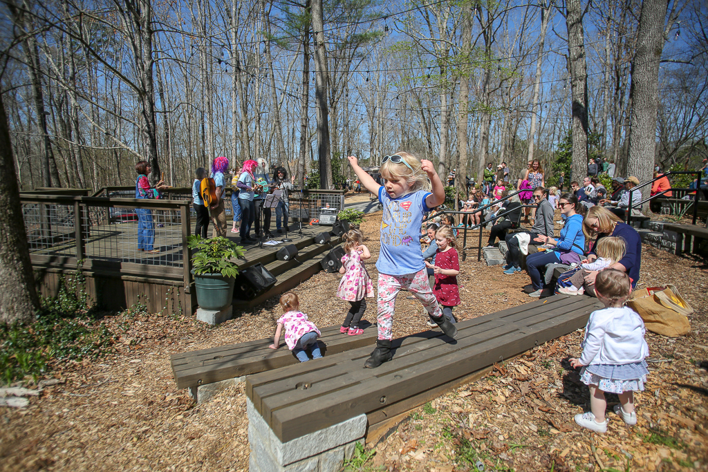 The Alice H. Richards Children's Garden grand opening included performances at the Theater in the Woods.