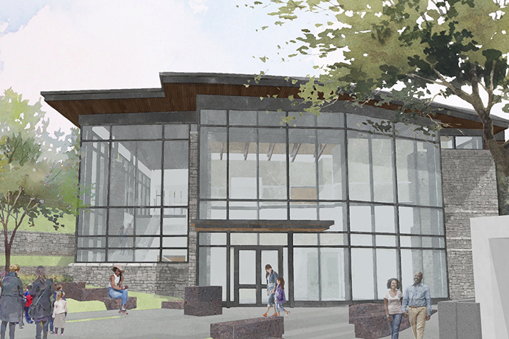 Artist rendering of the Center for Art and Nature Porcelain and Decorative Arts Museum