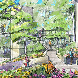 Artist rendering of the C. Burke Day Jr. Memorial Walkway