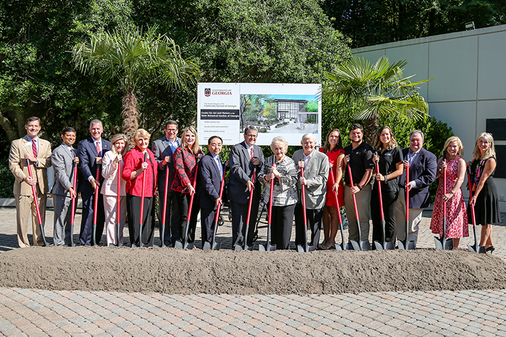 Groundbreaking at State Botanical Garden of Georgia for the Center for Art and Nature