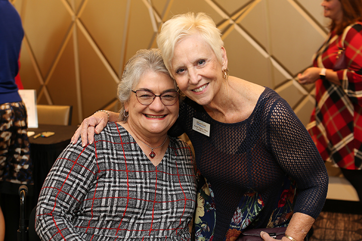 Louise Hill poses with Carol Tyger