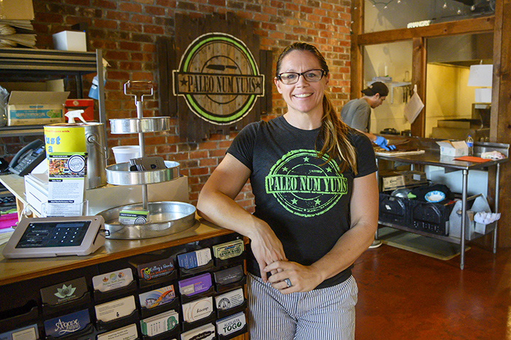 Paleo Num Yums owner Onnie Lee Sanford poses in her store.