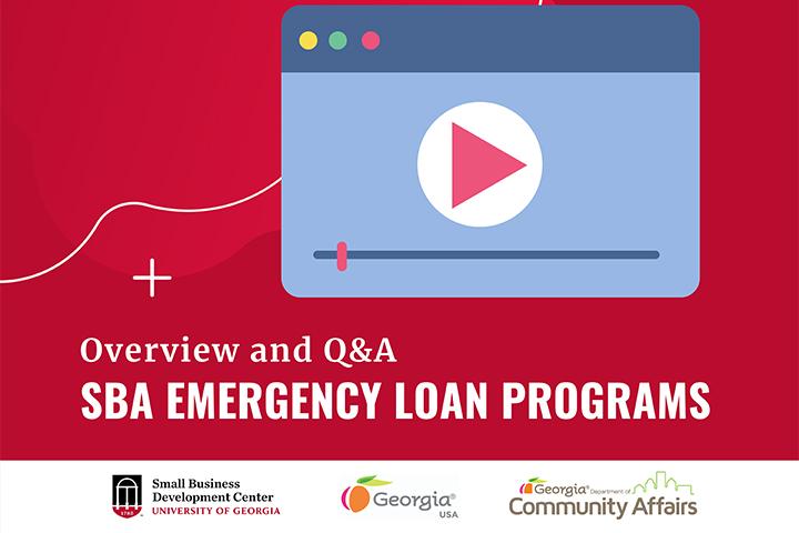 Graphic describing SBA Emergency Loan Programs