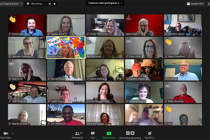 A screen shot of a zoom meeting