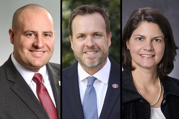 Headshots of Matt Colvin, Rob Gordon, and Michelle Elliot