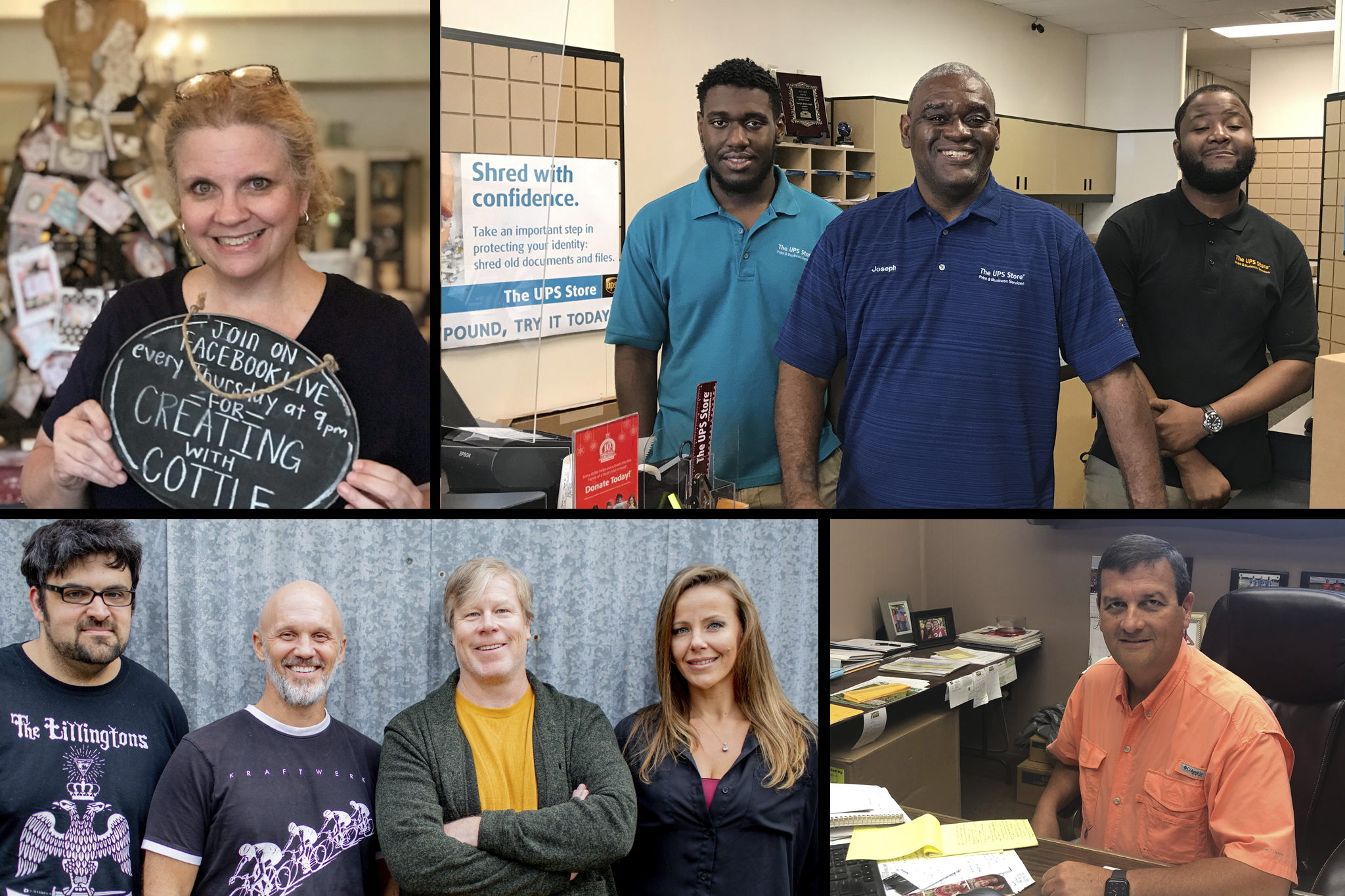 A collage of images showing Georgia business owners who have benefitted from SBDC assistance during the pandemic.