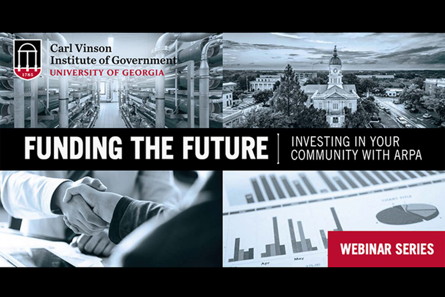 A graphic image for the Funding the Future webinar series