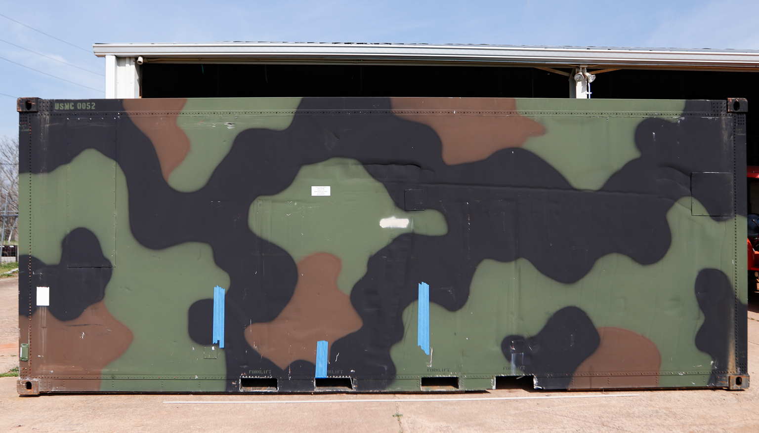 military container that's being transformed to cooler